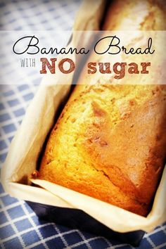 If your family, like ours, is trying to cut out white sugar then you're going to love this recipe for banana bread with NO added sugar. It's so moist and delicious! | via HousewifeHowTos.com