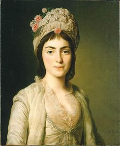 Portrait of Zoie Ghika, Moldavian princess 1777-by Alexander Roslin. The princess is in Moldavian costume and hat resembling a turban and decorated with roses. She was  the daughter of Gregory III ruler of Moldavia. Her father was murdered and she had to live in the household of the Russian Empress Catherine II.