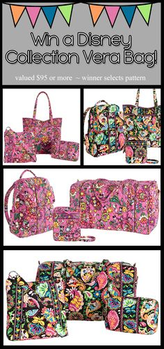 LOVE the Vera Bradley Disney Collection, Contest ends Sept 17th from  bunch of my Disney Online pals.
