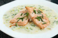 Salmon with leek sauce! Dinner inspiration!
