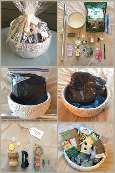 Fairy Garden Kit / Gift Basket  #theclaybunnydiary  Personalized gift baskets and care packages have become one of my favorite projects. From Self-Care Packages and Fairy Garden Kits, I love putting these together for people in my life.