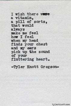 Typewriter Series # 508 by Tyler Knott Gregson. ☀