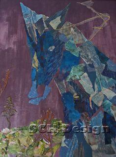 "Mixed Media ""Blue Horse Deconstructed"""