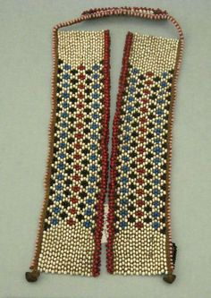 Africa | Collar/necklace from the Xhosa people of South Africa | Glass beads, metal, fiber: