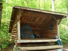 back woods lean to Backyard Camping, Camping Life, Tent Camping, Outdoor Camping, Camping Shelters, Outdoor Shelters, Survival Shelter, Camping Survival, Log Shed