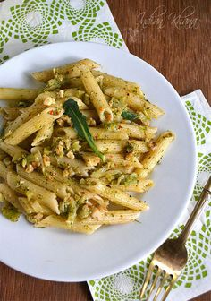 Broccoli Pesto Pasta from Indian Khana