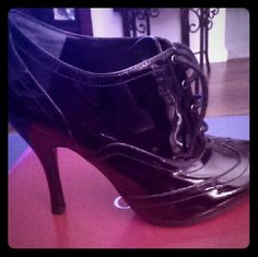 Guess Ankle Lace Up Bootie Size: 8M Color: Black Patent Leather Never Worn Guess Shoes Ankle Boots & Booties
