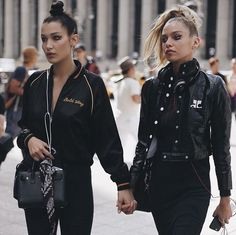 "Hadid News || Your best and ultimate source for all things about the Hadid sisters  - shotbyknvg: ""• Bella & Stella"""