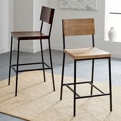 Rustic Bar Stool + Counter Stool #westelm