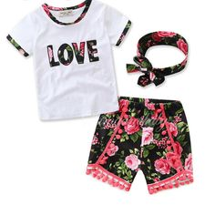 Check Out Our New Item:Girl LOVE letter ... Limited TIme Discount!   GET IT NOW>>http://www.foreverpassion.us/products/girl-love-letter-short-sleeve-floral-set?utm_campaign=social_autopilot&utm_source=pin&utm_medium=pin