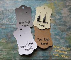 Custom Earrings Tags Custom Jewellery Tags Long