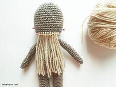 Онлайн МК Вяжем Амигуруми Куклу Волосы 8