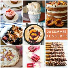 20 Summer Desserts!! So many yummy recipes perfect for summer!  -- Tatertots and Jello
