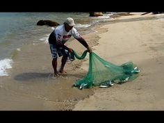 A clean way to throw a cast net - YouTube