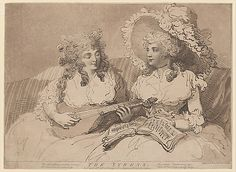 The Syrens  Thomas Rowlandson (British, London 1757–1827 London)  Publisher: . E. Jackson (London) Date: April 10, 1787 Medium: Etching aquatint and stipple Dimensions: sheet: 10 3/4 x 14 5/8 in. (27.3 x 37.1 cm) Classification: Prints Credit Line: The Elisha Whittelsey Collection, The Elisha Whittelsey Fund, 1959 Accession Number: 59.533.219