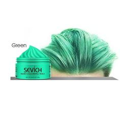 100g Temporary Disposable Hair Color Wax Men DIY Hairstyle Molding Paste Dye Cream Gel - United States / Green