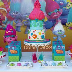 10th Birthday Parties, 1st Birthday Girls, Birthday Party Themes, Birthday Ideas, Trolls Birthday Favors, Los Trolls, Troll Party, Alice, Animal Party