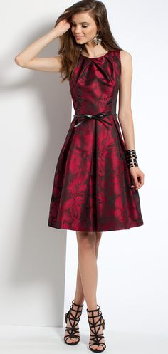 Jacquard Tuck Neck Dress #camillelavie