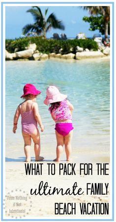 Ultimate Beach Packing List for Your Next Family Vacation What to pack for the ULTIMATE family beach vacation. With free printable packing list that includes 16 things you never dreamed you'd take to the beach. Florida Keys, Florida Vacation, Vacation Trips, Family Vacations, Disney Vacations, Vacation Destinations, Vacation Spots, Vacation Ideas, Beach Fun