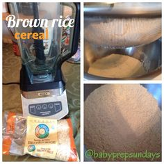 Make Your Own Brown Rice Cereal for baby by babyprepsundays.com