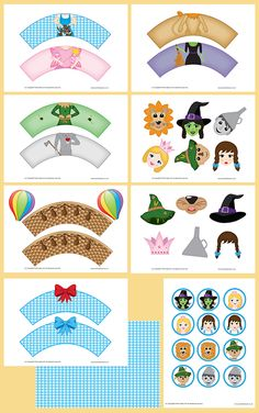 Printable Templates Ultimate Wizard of Oz Cupcake Wrappers PDF Pack