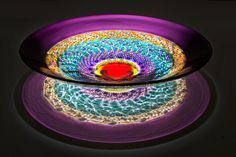 Untitled art glass from the 'Echoes' series by Stephen Rolfe Powell