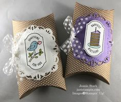 Time for Tags and A Few More of My Retiring Favorites | Just Stampin' Handmade Thank You Cards, Blender Pen, This Little Piggy, Pillow Box, Card Tutorials, 3d Projects, Card Kit, Easy Gifts, Stampin Up Cards