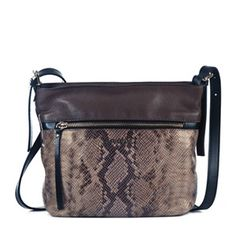 Bolso bandolera animal print #bolsodepiel #handbags #Bridas #Clenapal #FW14