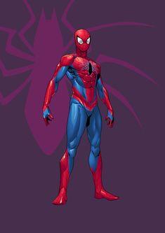Spiderman Drawing, Spiderman Art, Amazing Spiderman, Marvel Art, Marvel Dc Comics, Marvel Heroes, Ms Marvel, Captain Marvel, Doki Doki Anime