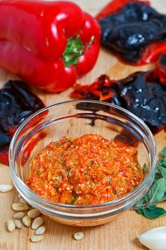 Greek Style Roasted Red Pepper Pesto