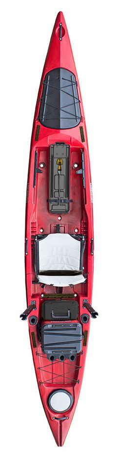 """Stoked about this new kayak and happy to be able to talk about it finally! The team has been asking for this for some time and Jim helped make it a reality. This WILL be a paddlers kayak. Longer. Leaner. Faster. """"The Kraken is going to put the kayak back in kayak fishing,"""" says Jim Sammons. Features include first such as a pump scupper designed to work with the included JKrate, a ready-made live bait storage solution, and many more."""