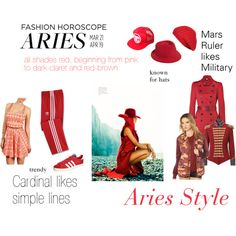 Aries Style by expressingyourtruth, via Polyvore