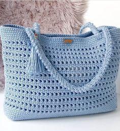 Free Beautiful Crochet Handwork Bag Design Ideas - Page 3 of 31 - Crochet market bag free pattern - Free Crochet Bag, Crochet Market Bag, Crochet Bags, Crochet Handbags, Crochet Purses, Tunisian Crochet, Knit Crochet, Bag Pattern Free, Knitted Bags