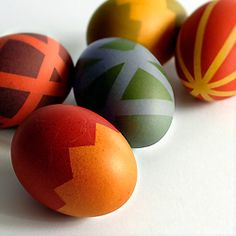 Two-Tone Easter Eggs