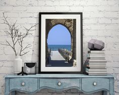 Gateway to Caesarea - Available stretched or framed in many sizes at Israelframed.com #beautiful #Israel #photography #gateway #ocean #blue