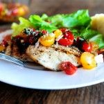 Bruschetta Chicken from The Pioneer Woman Cooks. Who doesn't love a new low carb chicken recipe?  Especially one that sounds this yummy. #DeliciouslyHealthyLowCarb #Bruschetta