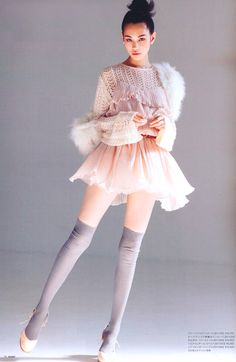 Kiko Mizuhara, Inspiration for Editorial Fashion Photographer Drew Denny Ballet Inspired Fashion, Ballet Fashion, Fashion Fashion, High Fashion, Fashion Design, Womens Fashion, Japanese Models, Japanese Fashion, Ellen Von Unwerth