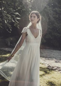Laure de Sagazan robe de mariee robe Allen et voile long collection 2015 chez Maria Luisa Mariage x Printemps - La Fiancee du Panda blog mariage & lifestyle-2274