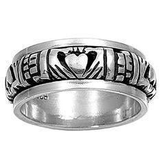 Blessing of the Claddagh 9MM Spinner Ring Sterling Silver 925, http://www.amazon.com/dp/B00C4JY0N8/ref=cm_sw_r_pi_awdl_DD61ub00D2EVH