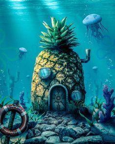 Who lives in a pineapple under the sea? by SurrealDigitalArt on DeviantArt