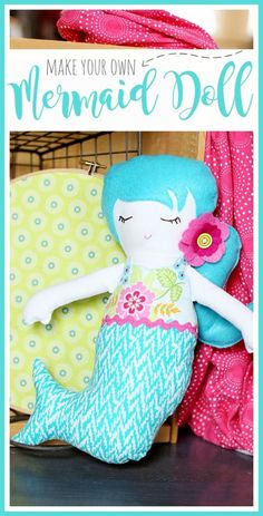 Mermaid Doll - a simple sewing project - Sugar Bee Crafts