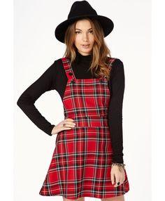 Tartan Pinafore Dress | Forebelle