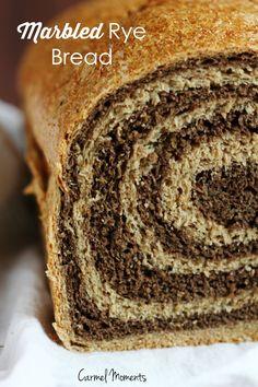 Marbled Rye Bread - Delicious swirled bread perfect for deli sandwiches. Picture tutorial. | Carmel Moments