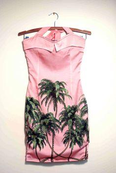Amy Winehouse unworn palm dress