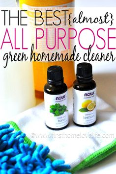"This GREEN ""almost"" ALL PURPOSE CLEANER recipe works on cleaning crown all the way down to the floors and everything in between! #DIY #GREENCLEANING"