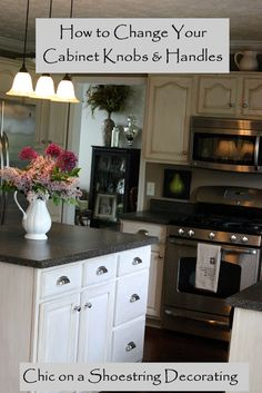 How to Change your Kitchen Cabinet Knobs & Handles, Chic on a Shoestring Decorating