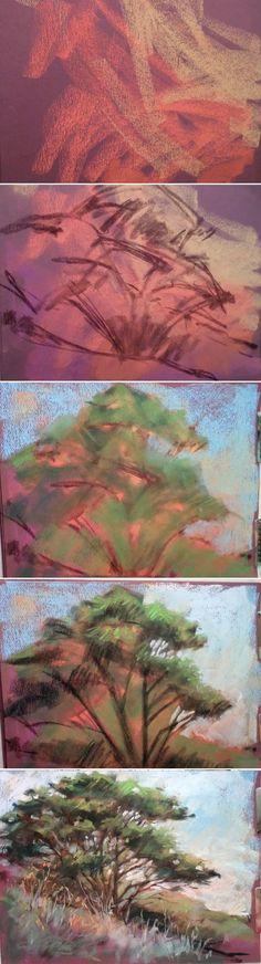 Pastel demo with Art League instructor Nancy Freeman — a quick sketch. Soft Pastel Art, Chalk Pastel Art, Pastel Artwork, Pastel Watercolor, Pastel Drawing, Chalk Pastels, Painting & Drawing, Soft Pastels, Oil Pastel Techniques