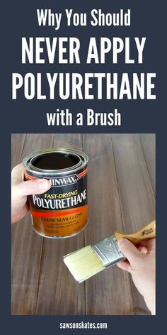 diy furniture How to spray polyurethane with a paint sprayer rather than applying with a paintbrush. Its quicker, easier and gives a more professional looking finish on DIY furniture projects. I will never apply poly with a paintbrush ever again! Diy Furniture Plans, Diy Furniture Projects, Woodworking Furniture, Diy Wood Projects, Cool Furniture, Furniture Repair, Furniture Stores, Diy Furniture Varnish, Furniture Websites