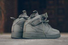 "Nike Air Force 1 Mid 07 Canvas ""Dark Stucco"" - EUKicks.com Sneaker Magazine"