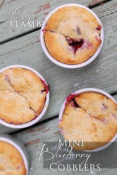 Recipe: Mini Blueberry Cobblers